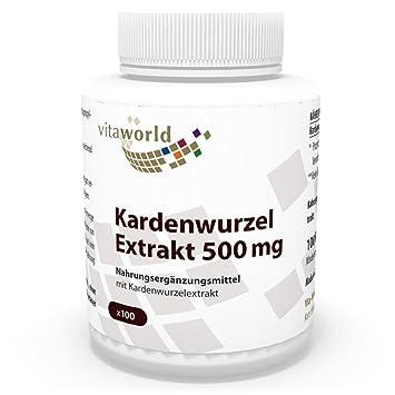 Extracto de Raíz de Cardo 500mg, 100 Cápsulas Vita World Farmacia Alemania: Amazon.es: Salud y cuidado personal