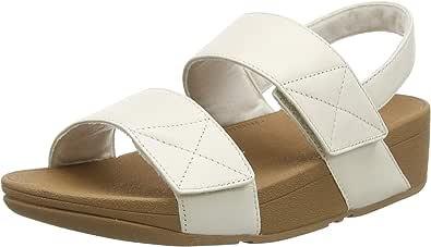 FitFlop Mina Adjustable Sandal-Leather, Sandalias de Punta Descubierta Mujer, 36 EU