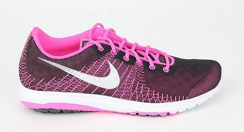 Nike Flex Fury (GS) - Zapatillas para niña, Color Negro/Rosa/Blanco, Talla 38.5: Amazon.es: Zapatos y complementos