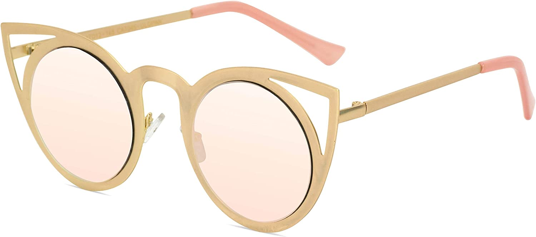Damen Oversized Cat Eyes Sonnenbrille Vintage-Stil Retro Shades Eyewears GuPPWK