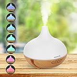 Easehold 300ml Aroma Essenziale Petrolio Diffusore ad Ultrasuoni Cool nebbia umidificatore con 7colori LED per Yoga Spa accoglienza Ufficio Camera