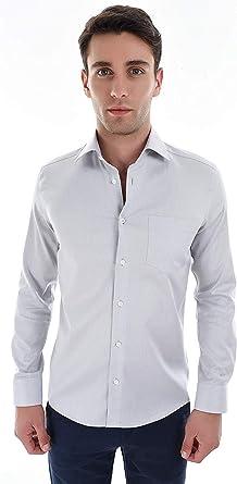 SAGE & LOOM Camisa Premium de Sarga para Hombre Regular Fit: Amazon.es: Ropa y accesorios