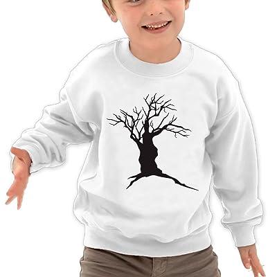 Anutknow Dead Tree Silhouette Children's Round Neck Soft Hoodies Sweatshirt
