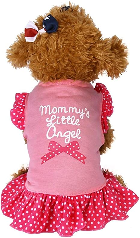 Summer Dog Dress Small dog Dress Dog Clothes Lime and Hot Pink Dress Pet Accessories