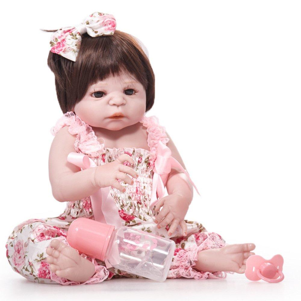 GAOYY Wiedergeburt Puppe 55cm Simulation Baby Puppe Silikon Kinder Spielzeug Braune Augen,A B07G49NXVP Babypuppen Spezielle Funktion | Berühmter Laden