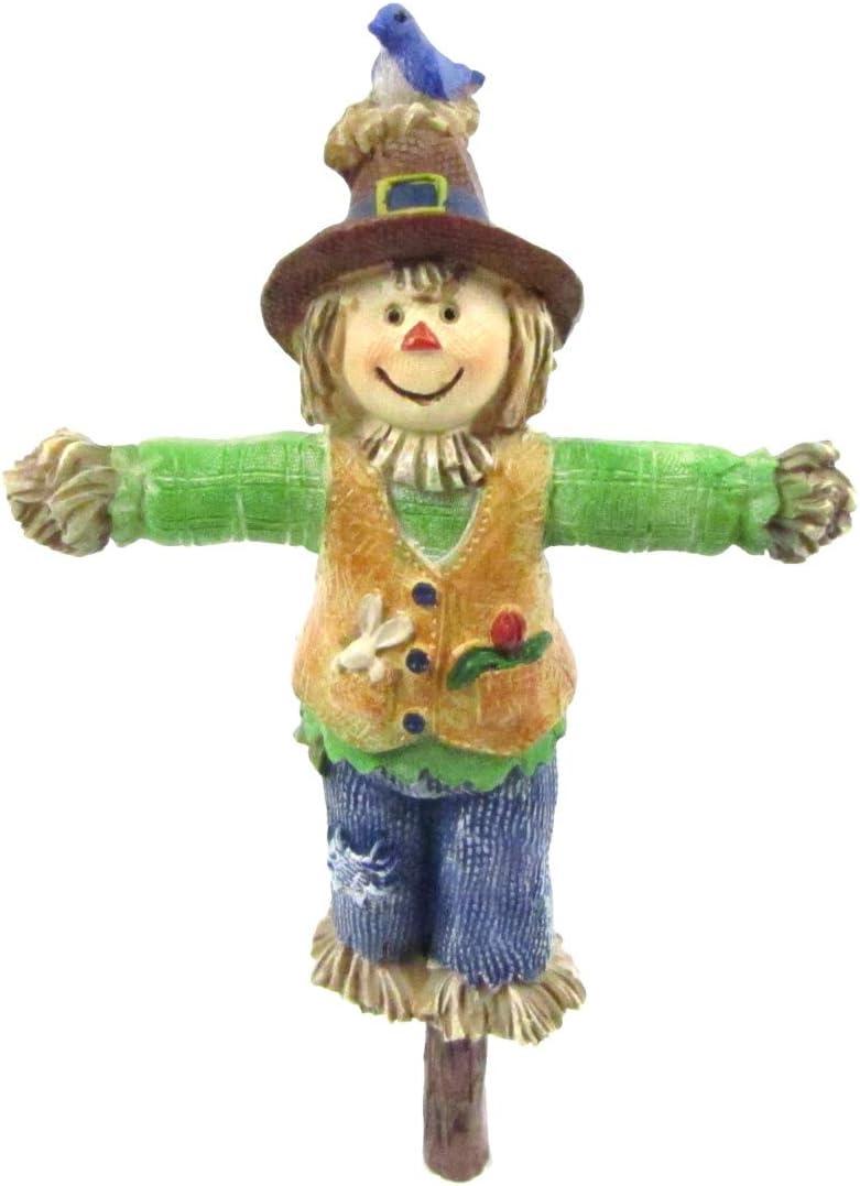 TG,LLC Treasure Gurus Miniature Scarecrow Fairy Garden Figurine Accessory Dollhouse Landscape Decor Outdoor Ornament
