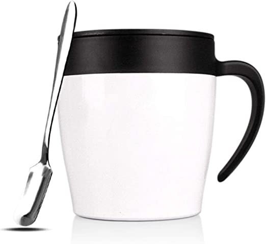 12oz Stainless Steel Insulated Coffee Mug Handle Double Wall Vacuum Tumbler Cup