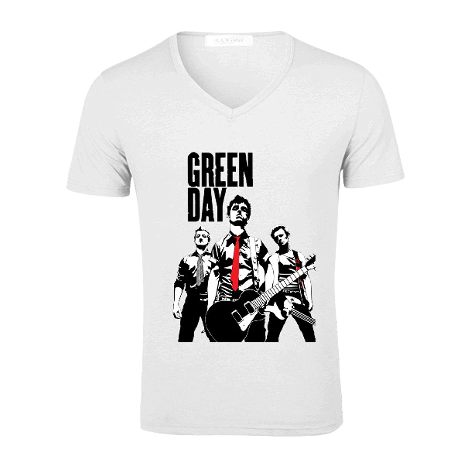 TooWest Great Band Green Day V Neck Cotton Tee Shirt