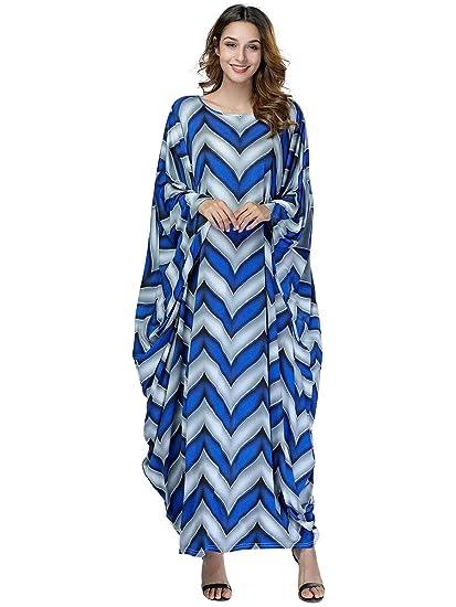 Acqrobe Maxi Robes Dames - Kaftan Musulman Bat Manches Longues Bouffant Abaya  Jilbab Casual Robe Longue Taille Plus  Amazon.fr  Vêtements et accessoires c5f16c35665