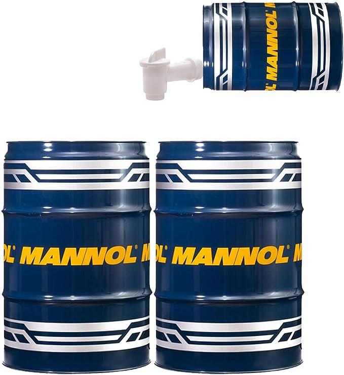Mannol 2 X 60 Liter Garagenfass Auslaufhahn Universal Getriebeoel 80w 90 Api Gl 4 Auto