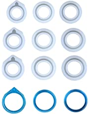 Yalulu 9Pcs Assorted Sizes DIY Ring Silicone Mold Jewelry Pendant Rings Resin Casting Circle Casting Mould