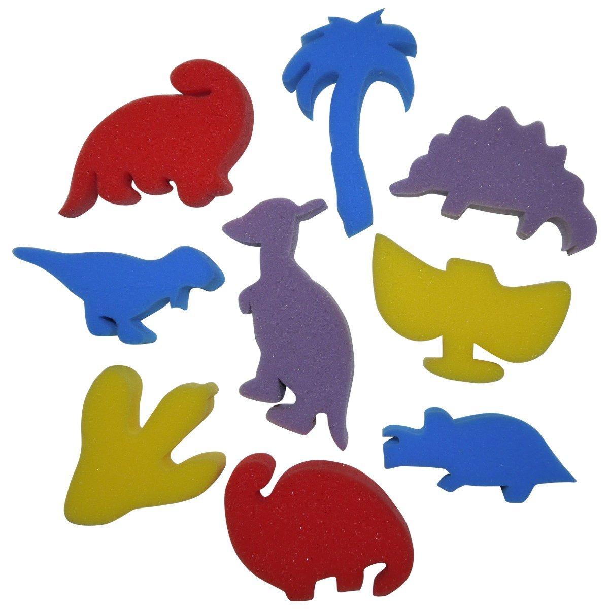 Art pailles Am251Dinosaures éponge Peinture Formes Artstraws