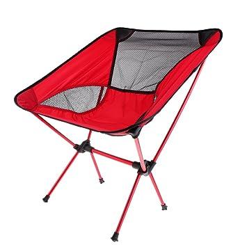 Möbel Klappbarer Stuhl Hocker Sitz Für Camping Outdoor Rot Neueste Mode