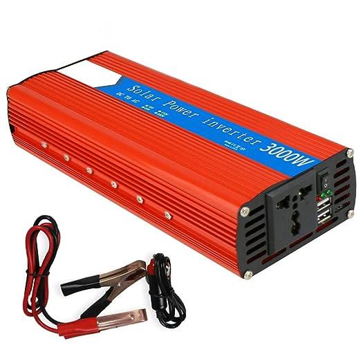 WDYu 3000W Car Power Inverter DC 12V a 230V Pico 6000W con 1 Toma ...