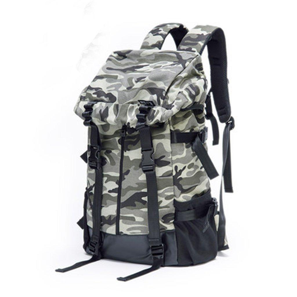 XUAN YUAN 大容量屋外迷彩バックパックカジュアルキャンバスバッグのメンズショルダーバッグ韓流 @   B07GFFQ1DY