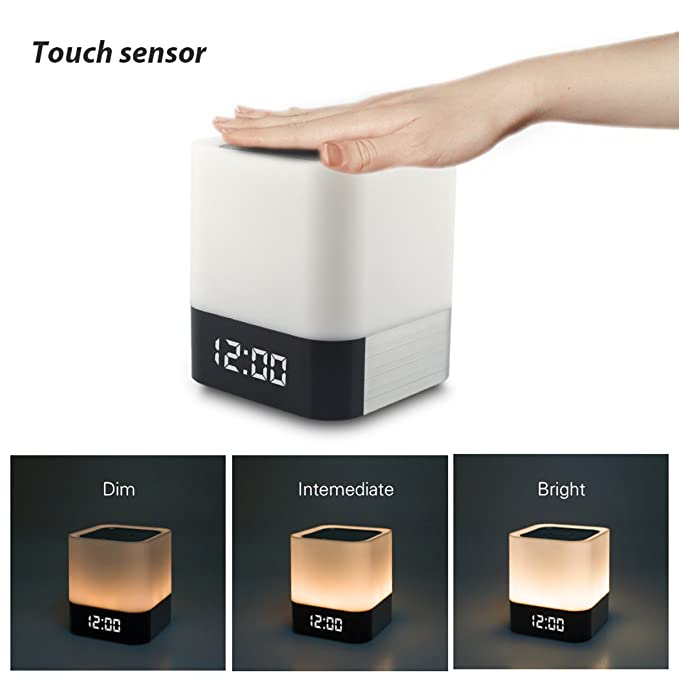 Amazon.com: Night Light Bluetooth Speakers,WamGra All in 1 Touch ...