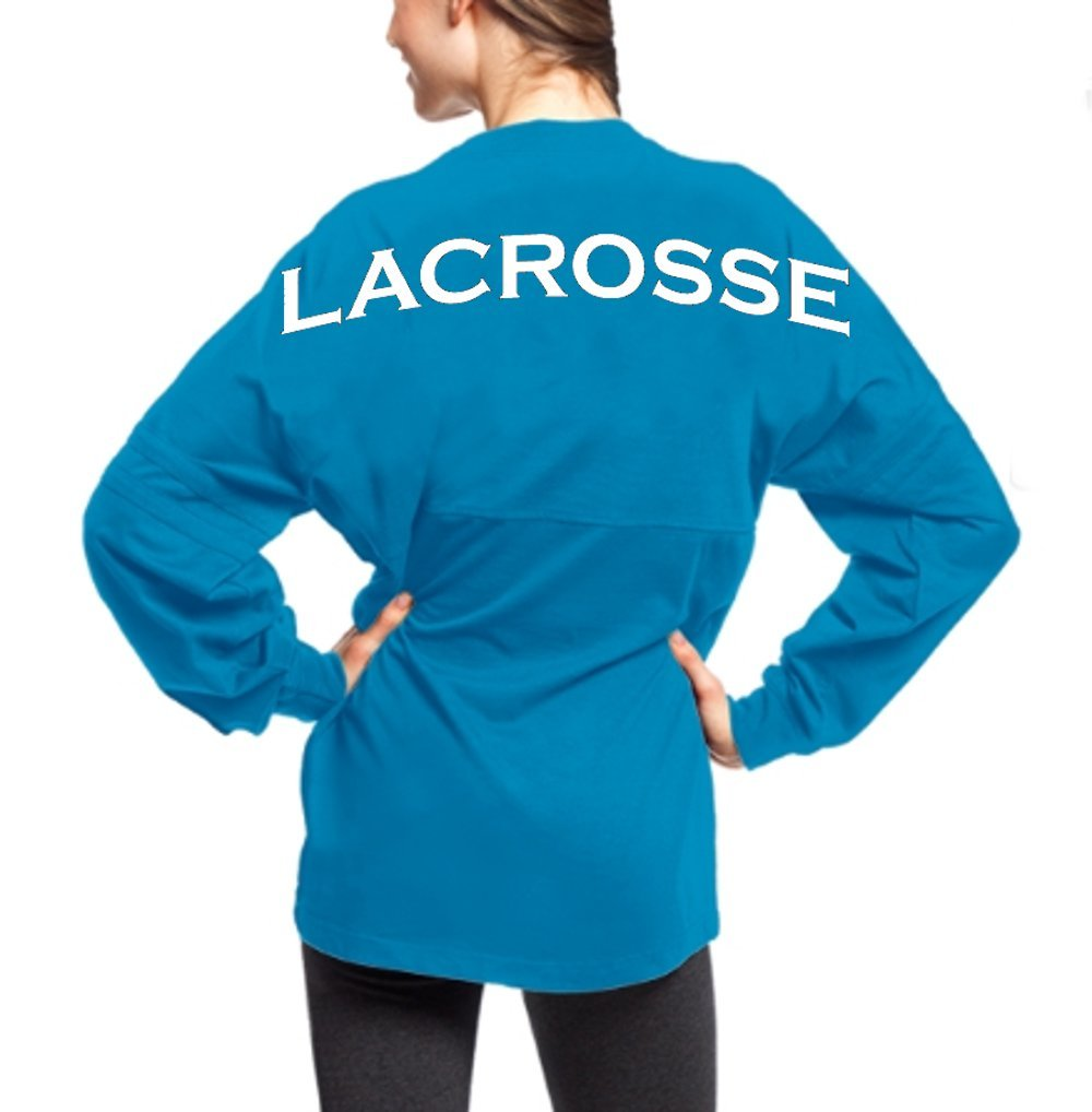 JANT girl Lacrosse Spirit Shirt (Electric Blue, S)