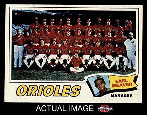 1977 Topps # 546 Orioles Team Checklist Earl Weaver Baltimore Orioles (Baseball Card) Dean's Cards 1.5 - FAIR Orioles