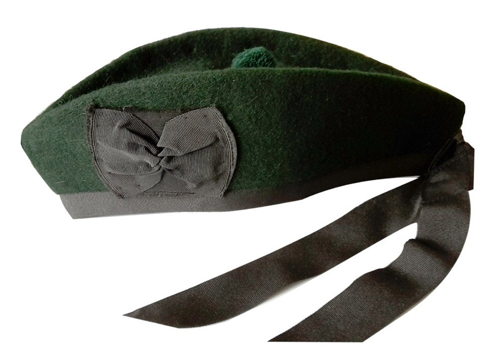 100% Pure Wool Glengarry Bonnet Hat Scottish Piper - All Sizes & Colours Available