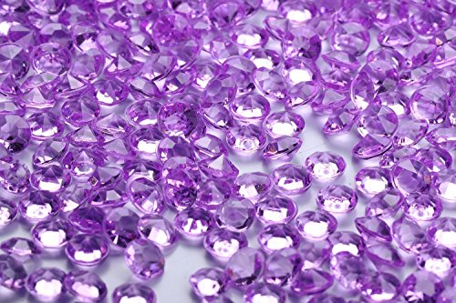 10000 pcs/pack Wedding Table Scatter Confetti Crystals Acrylic Diamonds Vase Fillers 4.5 mm Rhinestones for Wedding, Bridal Shower, Vase Beads Decorations (light ()