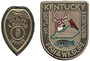 Pair of 2 different Kentucky Dept. of Fish and Wild Life Resources Patches