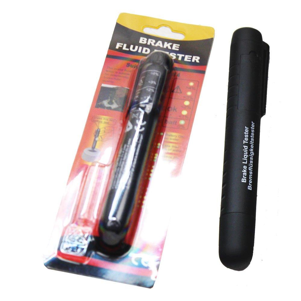 Pocket Brake Fluid Tester Brake Fluid Liquid Tester Pen With 5 LED Indicator Calibrate for DOT3 DOT4 Brake Fluid by DPL TOOLS