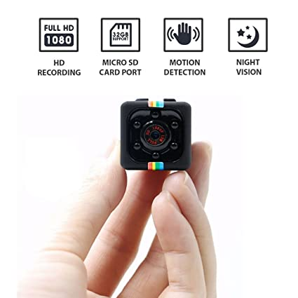 Hidden Spy Camera 1080P Mini Security Wireless cam with Night Vision, Video Recorder for Nanny