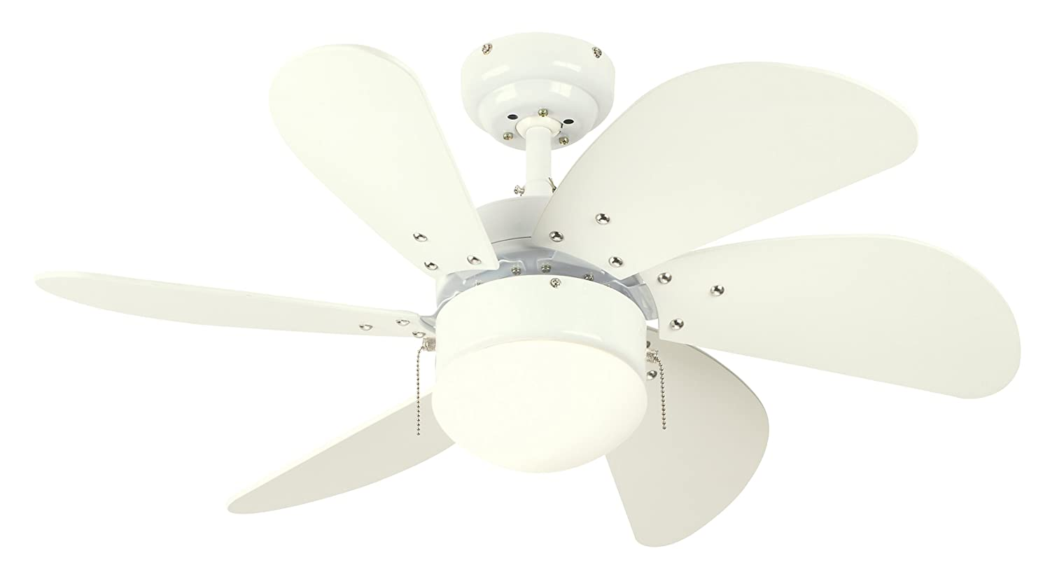 Westinghouse 7814520 turbo swirl single light 30 inch six blade westinghouse 7814520 turbo swirl single light 30 inch six blade indoor ceiling fan white with opal frosted glass amazon aloadofball Images