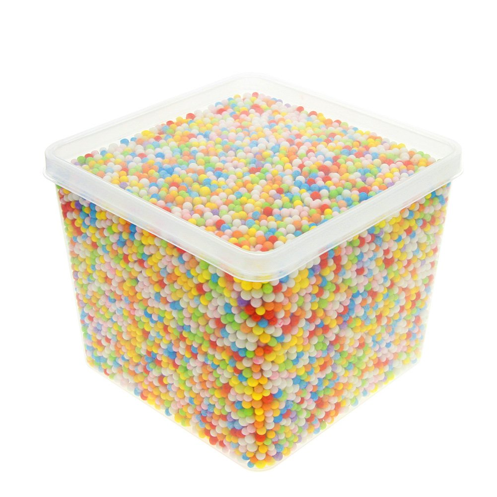 JUANYA 24000 Pieces Mini Styrofoam Balls Assorted Color 0.1 - 0.14 Inches for Slime DIY Crafts, Wedding and Party Decorations 4336860957