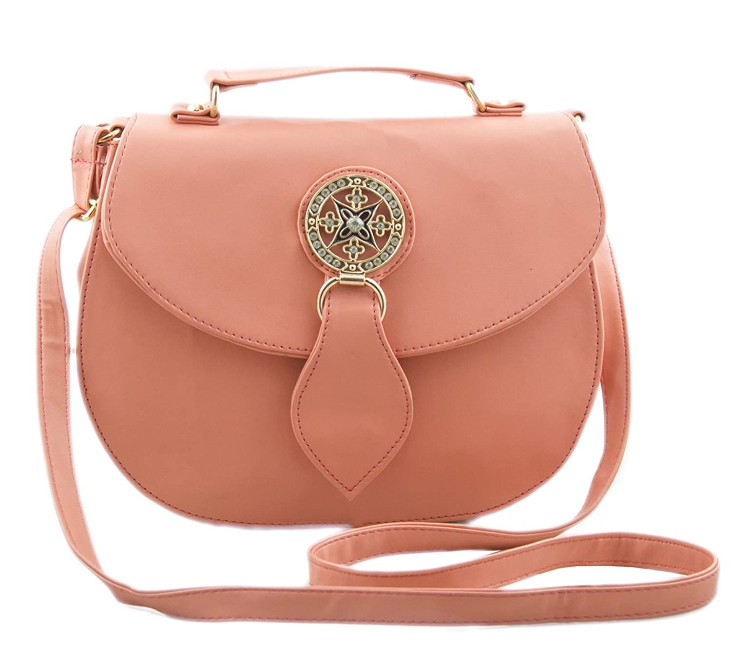 Voaka Women's Peach Sling Bag: Amazon.in: Clothing & Accessories