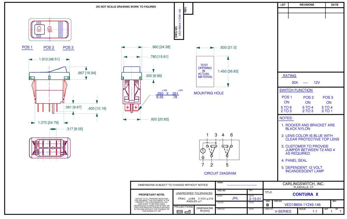 Atv Utv Truck Jeep Carling Contura X Light Accessory 370 Scooter Wiring Diagram Rocker Switch 3 Position Automotive