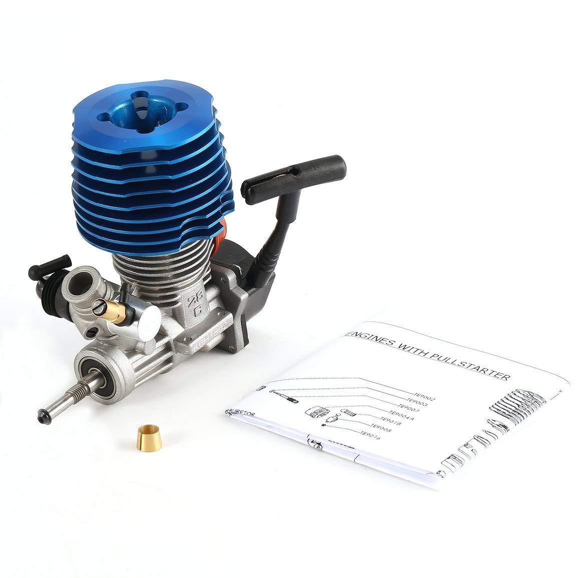 venta directa de fábrica 4.57CC Arrancador Lateral de extracción Manual del Motor de Metal Metal Metal de Escape para 1 8 Racing RC Coche fghfhfgjdfj  el más barato