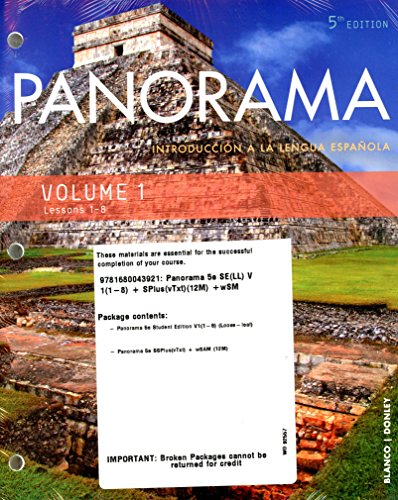 Panorama-5th-Ed-Looseleaf-Vol-1-(Chp-1-8)-w/-Supersite-Plus-(vTxt)(12mos)-and-WebSAM