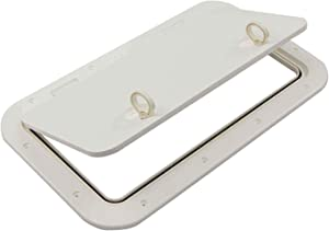 Five Oceans Marine Deck Access Hatch with Lock (15 11/16 x 12 7/8 inches) - (23 1/2 x 13 5/8 inches)