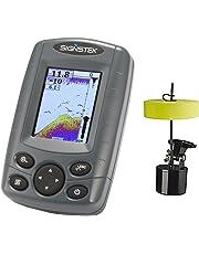 Signstek Détecteur de Poisson Portable Sondeur Pêche sans Fil, Sonar Electrique avec LED Lumière Arrière