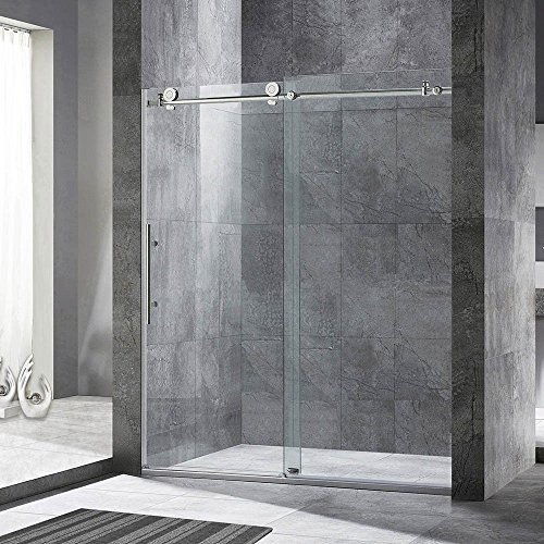 Best Deals! WOODBRIDGE MBSDC6076 Brushed Nickel MBSDC6076-B Frameless Sliding Shower Door, C-Series:...
