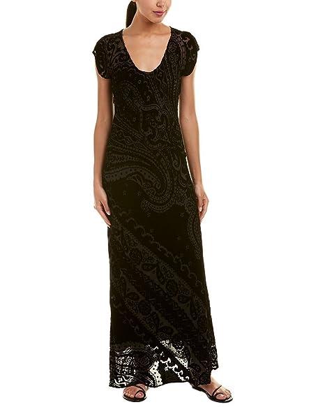 Johnny Was Womens Love Silk Blend Maxi Dress Xs Black At Amazon
