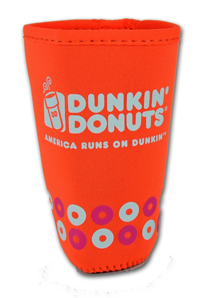 Dunkin ' DonutsマルチサイズCup Cooler Beverageクージー S ホワイト B07CNR9W9C S|Iconic/White Iconic/White S