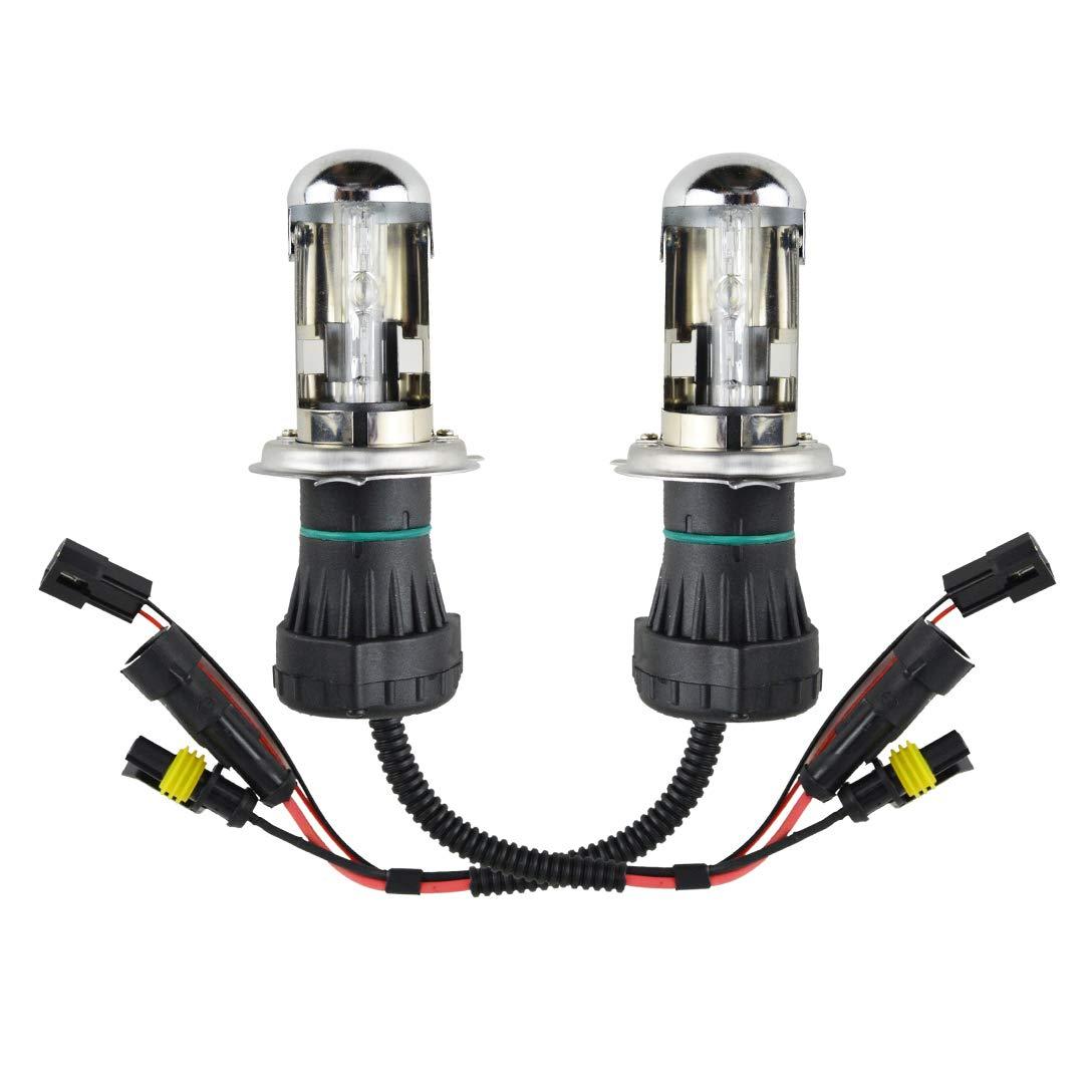 Innovited 55W HID Xenon Bi-xenon Hi/Lo Dual Beam Replacement Bulbs - H4 9003-8000K