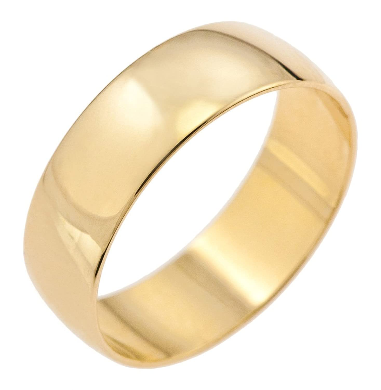 kareco 9ct yellow gold 6mm d shape wedding ring amazoncouk jewellery - Wedding Rings Amazon