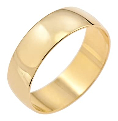 Kareco 9ct Yellow Gold 4mm D Shape Wedding Ring lznb3kn7N
