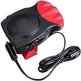 KOBWA Portable Car Heater, Auto Ceramic Heater, 12V, 150W, 3-Outlet Quickly Heats Fast Plug Into Cigarette Lighter