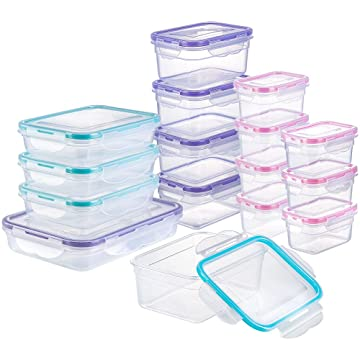 e04b03cabcd [16 Pack] Food Storage Containers with Lids, Plastic Food Containers with  Lids, Airtight Storage Container Sets for Healthy Diet, Vegetables, Snack &  Fruit ...