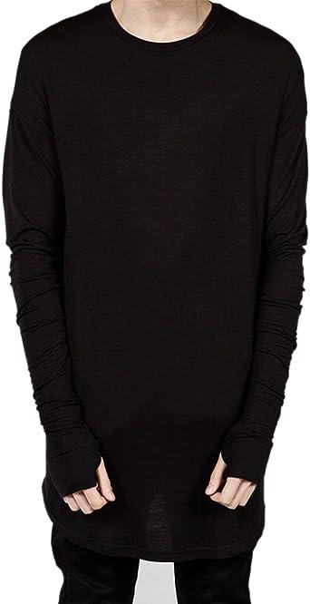 ROBO Camiseta Hombres con Manga Larga con Guantes de Algodón ...