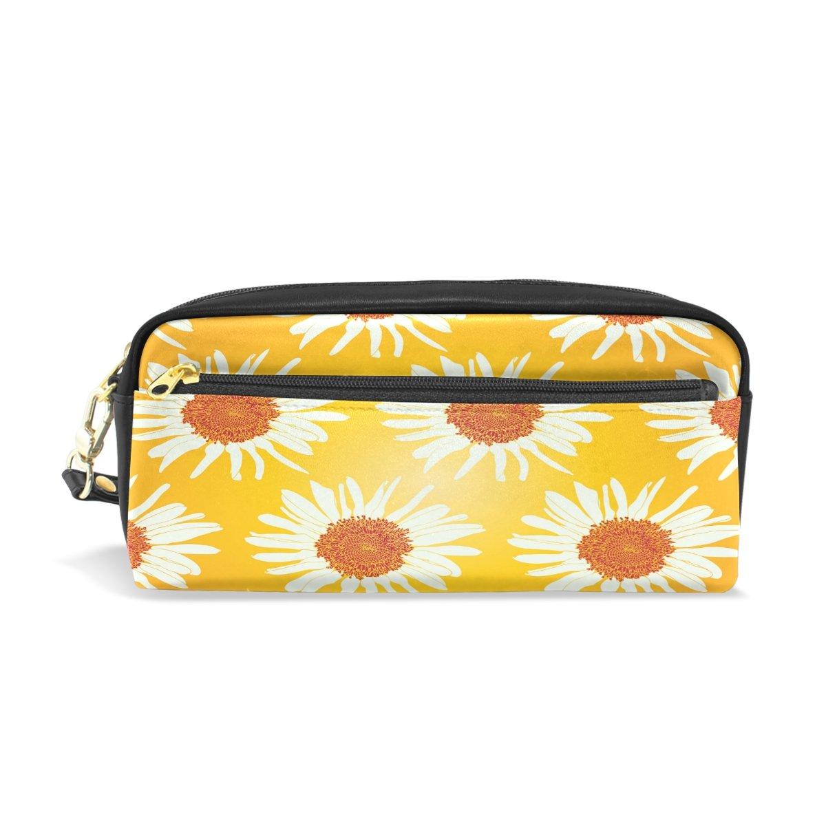 Estuche, diseño bolsa duradero Lápiz bolsa bolsa diseño de maquillaje con gran capacidad Daisy de los estudiantes d4bcf0