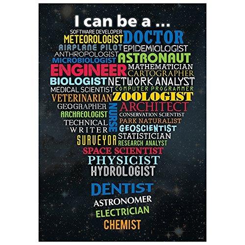 Math Classroom Decorations (STEM Careers Inspire U Poster, Gr. 3+)