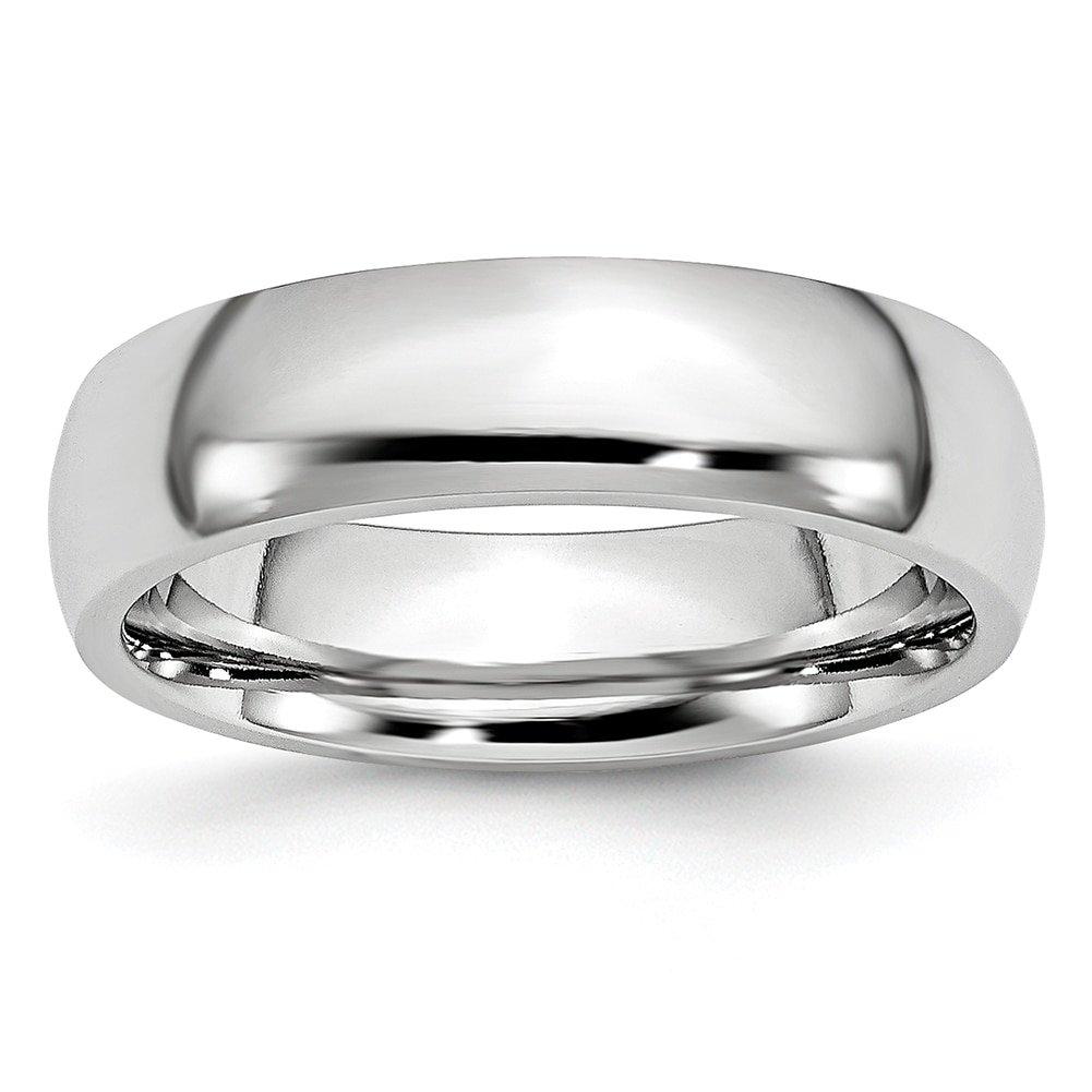 Lex & Lu Chisel Cobalt Polished 6mm Band Ring by Lex & Lu