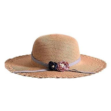 Fashion Women Wide Large Brim Floppy Summer Beach Sun Hats Straw Panama Cap fbbbb8a2799