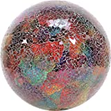 VCS GLMTLF10 Mosaic Glass Gazing Ball, Turquoise/Lime/Fuchsia, 10-Inch