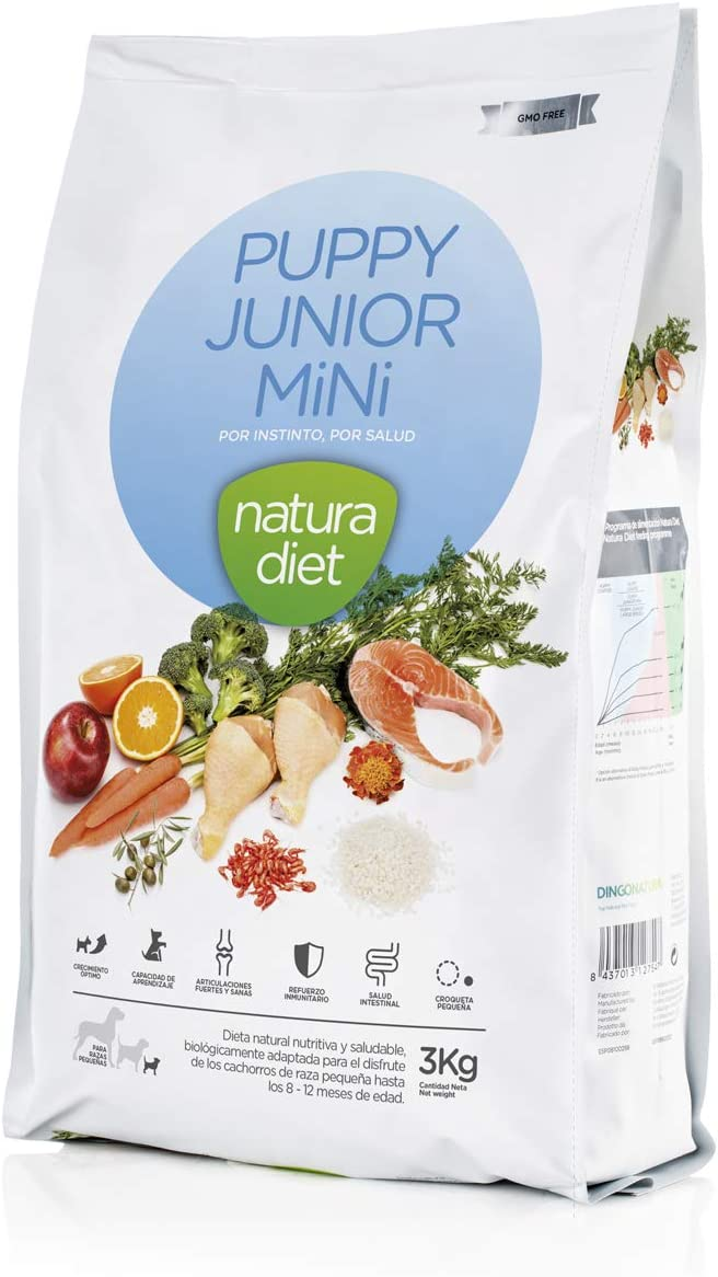 Natura Diet Comida Seca para Perros Cachorro Razas Mini - 3000 gr
